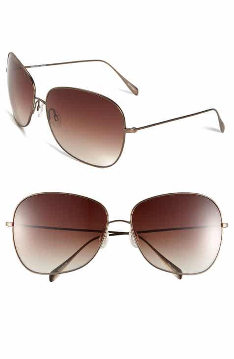3f77322065f Oliver Peoples Elsie 64mm Oversize Metal Sunglasses
