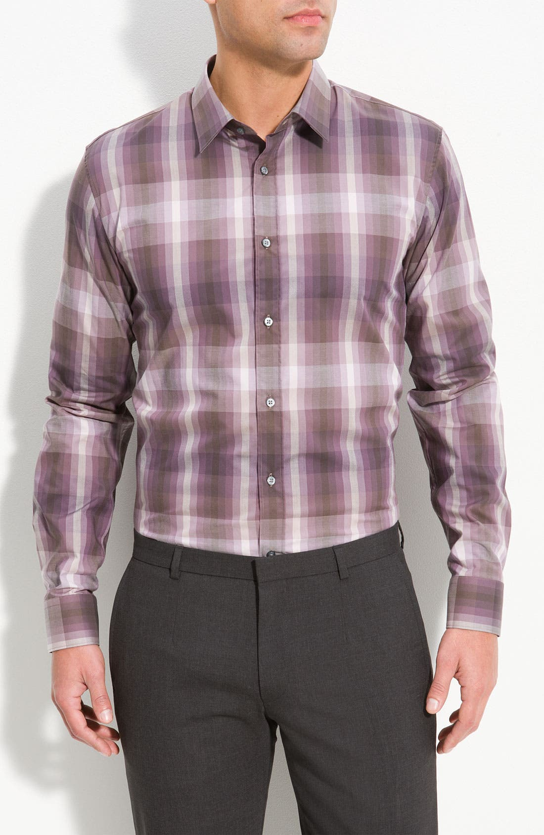 Alternate Image 1 Selected - HUGO 'Elisha' Slim Fit Sport Shirt