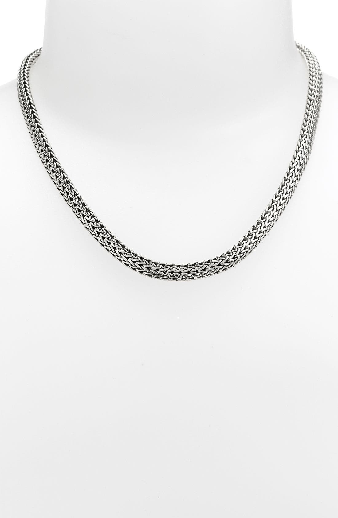 'Classic Chain' Wide Necklace,                             Main thumbnail 1, color,                             Silver Wide