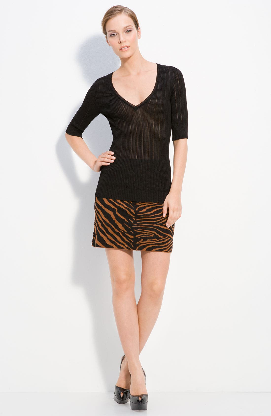 Alternate Image 1 Selected - M Missoni V Neck Knit Pullover