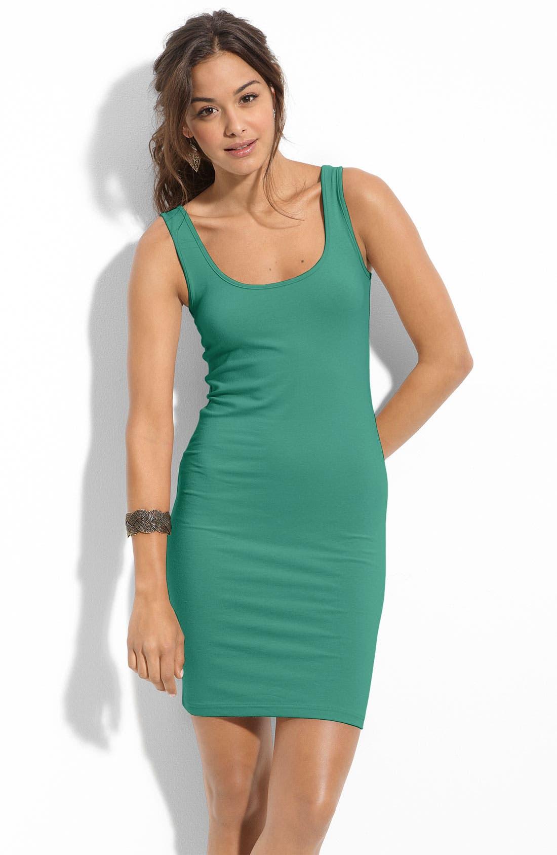 Alternate Image 1 Selected - BP. Double Scoop Tank Dress (Juniors)