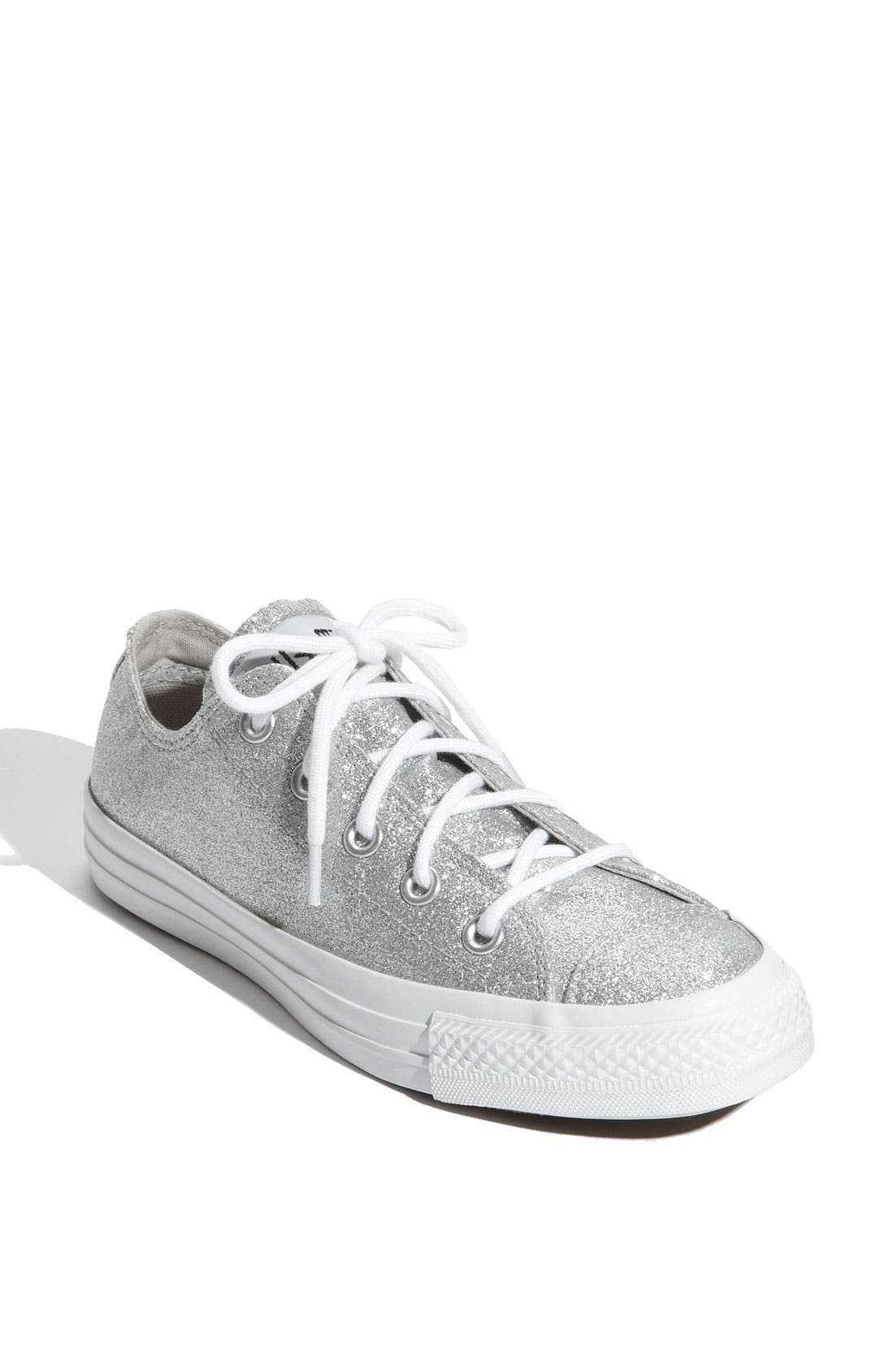 Chuck Taylor<sup>®</sup> 'Winter Glitz' Sneaker,                         Main,                         color, Silver