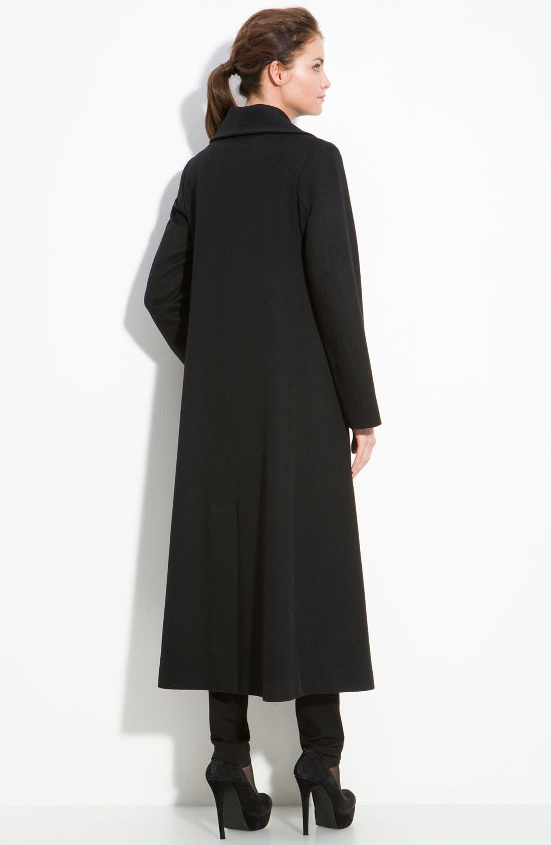 Alternate Image 2  - Fleurette Long Cashmere & Wool Coat