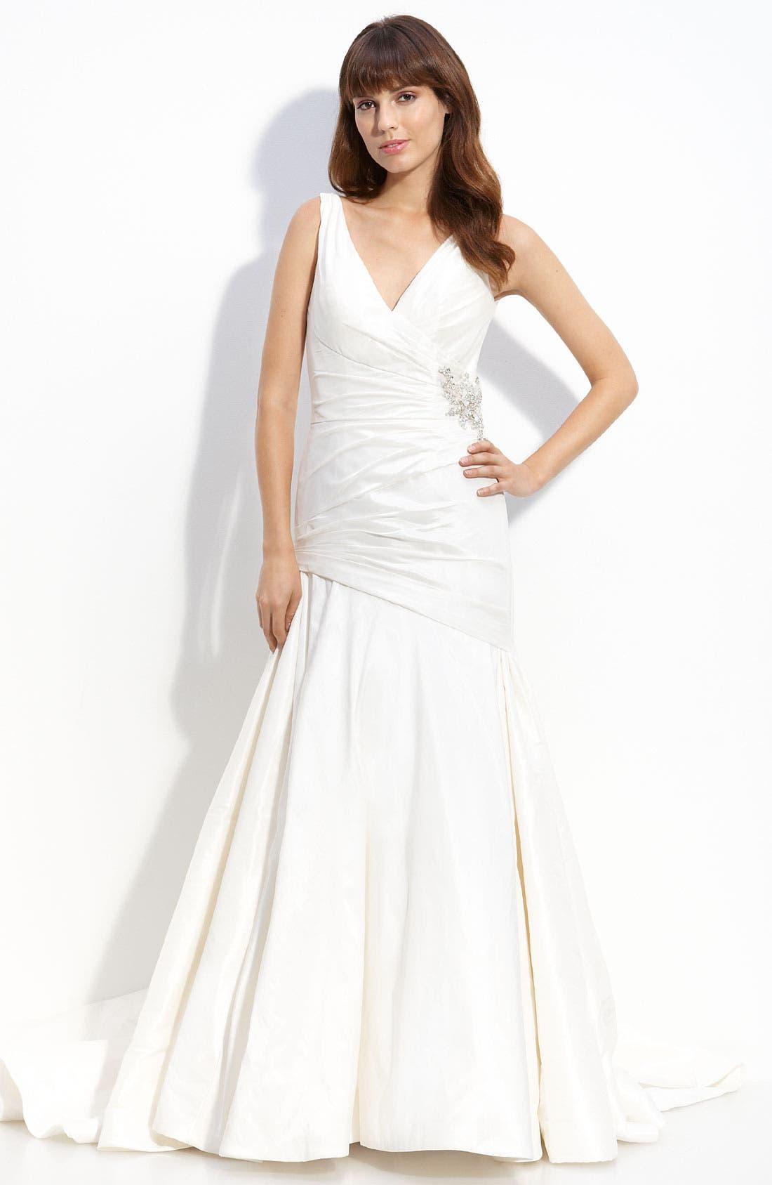 Alternate Image 1 Selected - Carmen Marc Valvo 'Chelsea' Taffeta Gown
