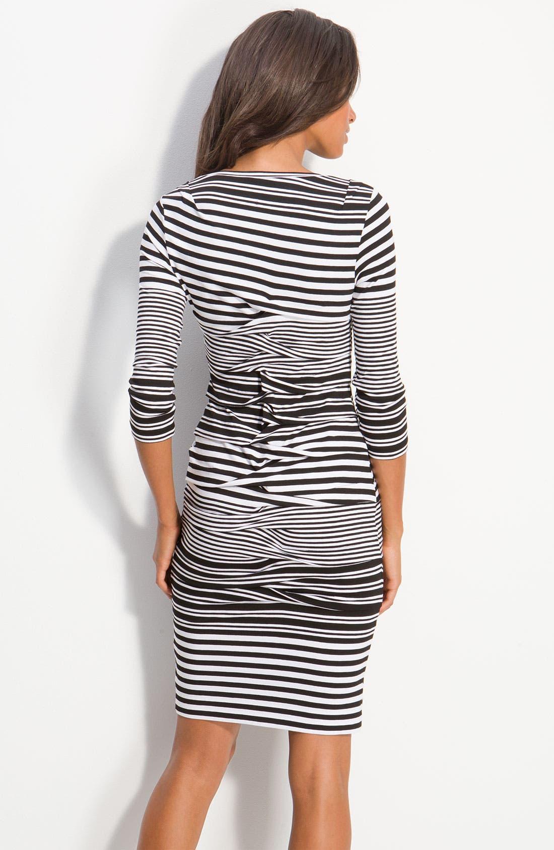Alternate Image 2  - Nicole Miller Stripe Jersey Sheath Dress