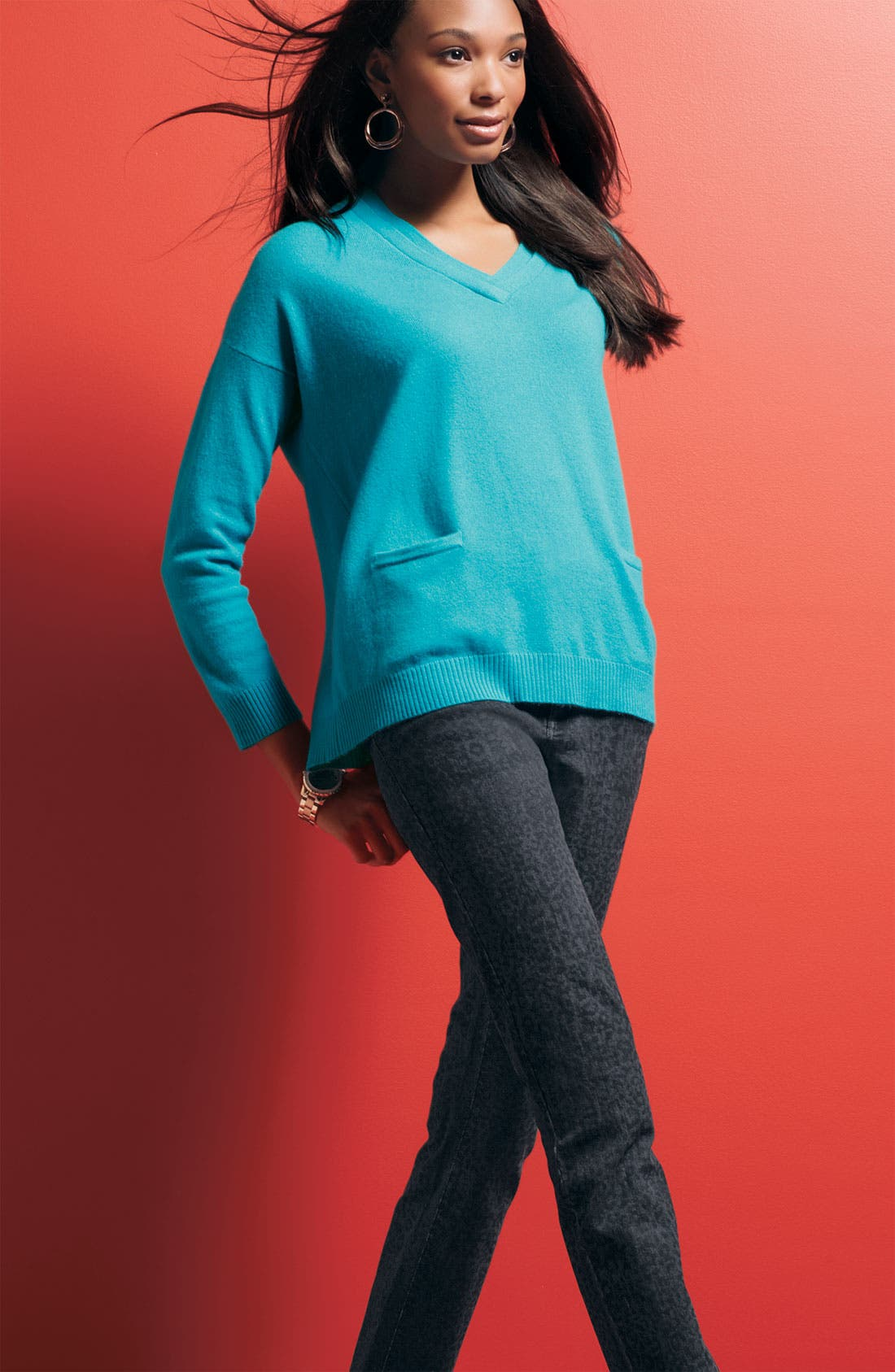 Alternate Image 3  - Not Your Daughter's Jeans® 'Sheri' Patterned Skinny Stretch Jeans (Plus)