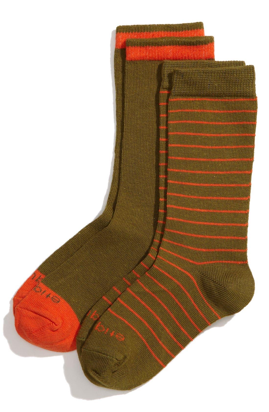 Alternate Image 1 Selected - Etiquette Clothiers 'Needle Stripe' Socks (2-Pack) (Toddler & Little Kid)