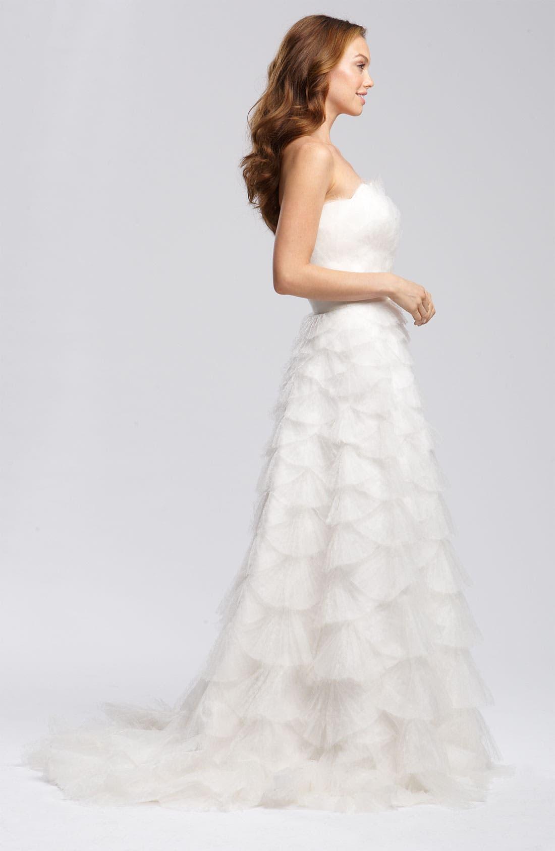 Alternate Image 3  - Tadashi Shoji Tiered Tulle & Organza Gown
