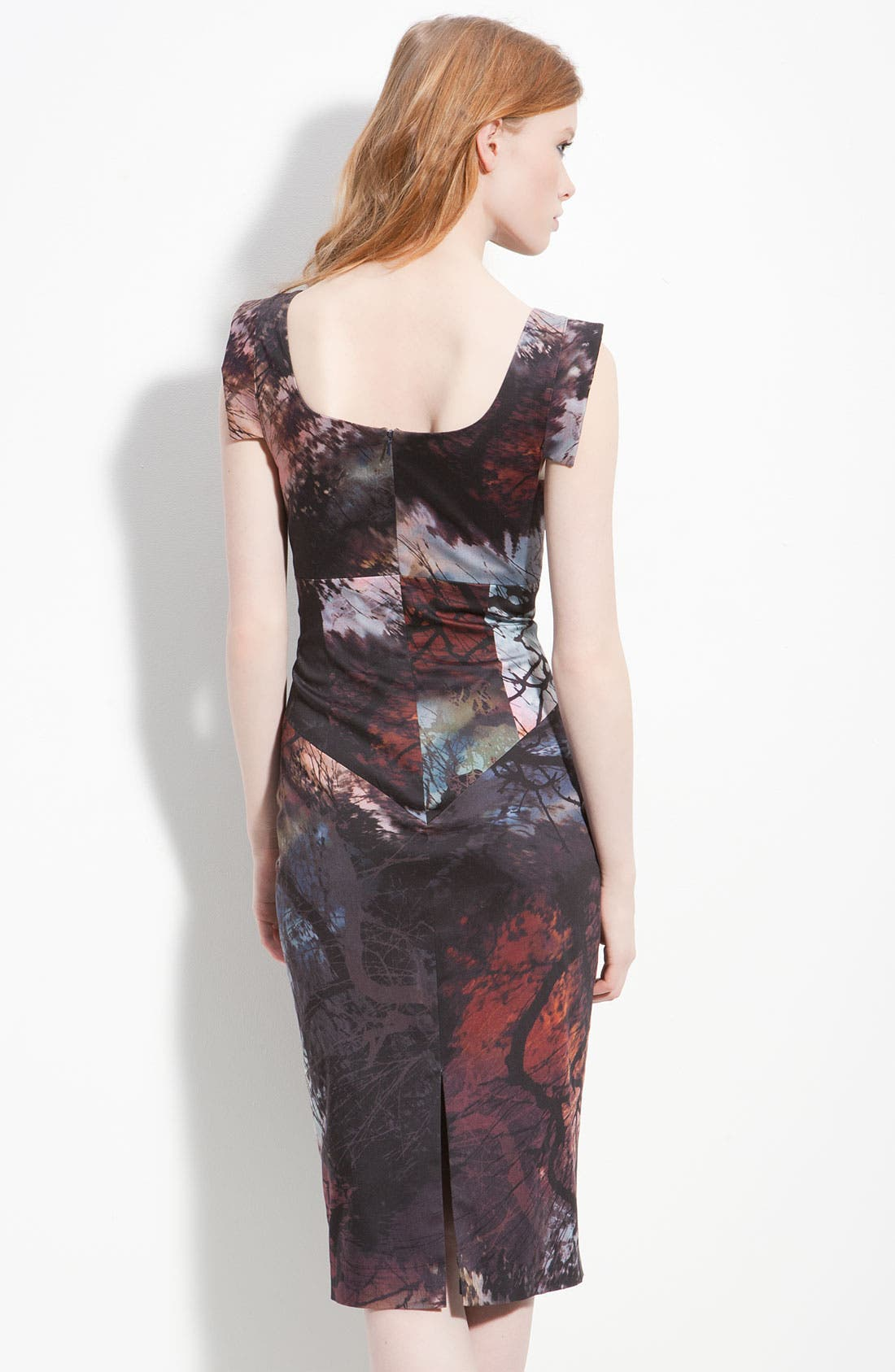 Alternate Image 2  - Black Halo 'Jackie' Print Pencil Dress