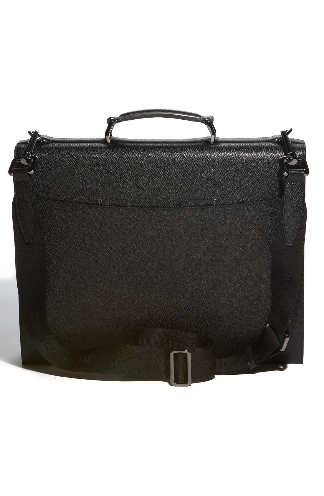 Alternate Image 2  - Burberry Leather Accordion Briefcase