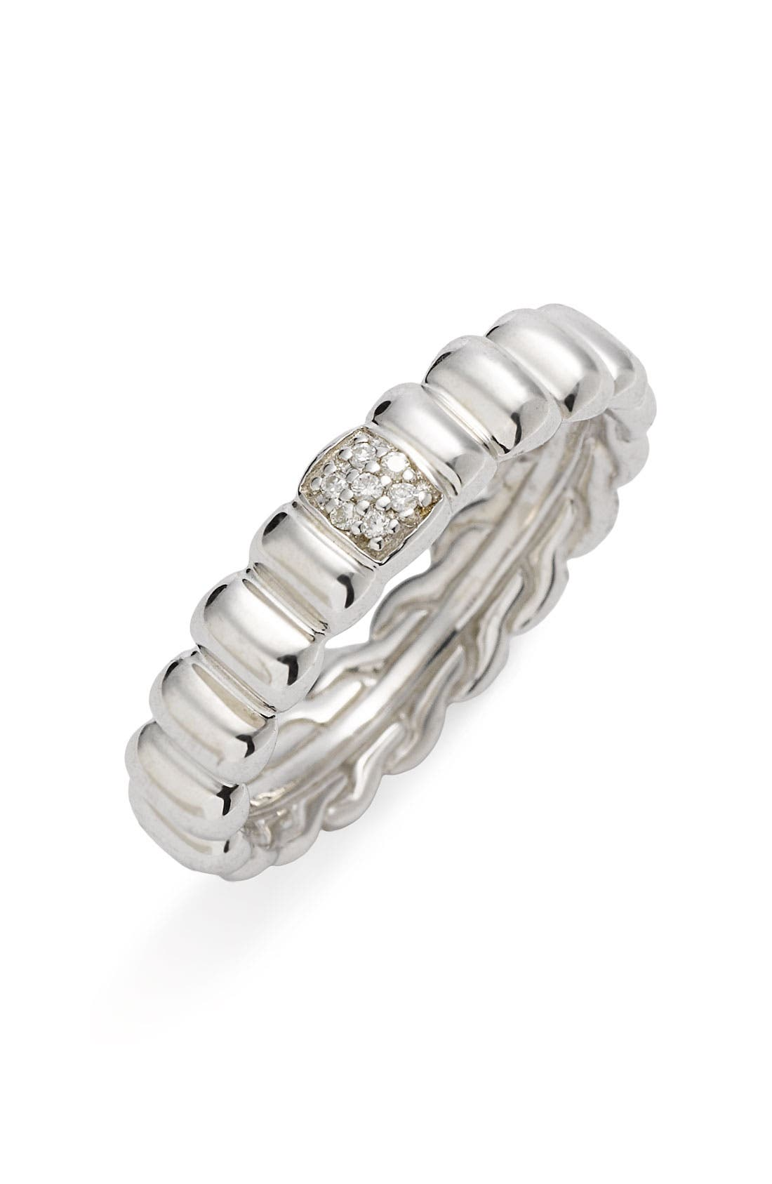 Main Image - John Hardy 'Bedeg' Slim Diamond Pavé Ring