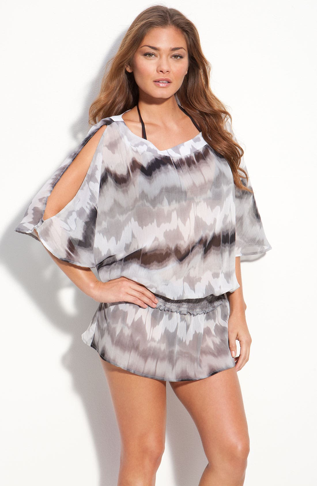 Alternate Image 1 Selected - W Swimwear Tie Dye Tunic Cover-Up