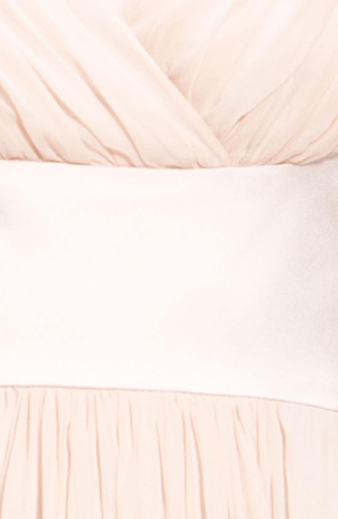 Alternate Image 3  - Donna Morgan Satin & Pleated Chiffon Dress