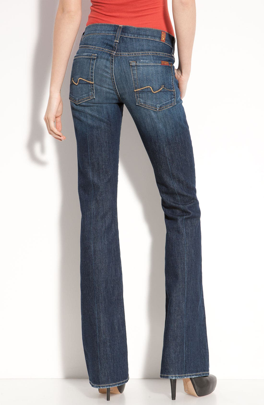 Alternate Image 2  - 7 For All Mankind® Bootcut Jeans (Regular & Short) (Nouveau New York)