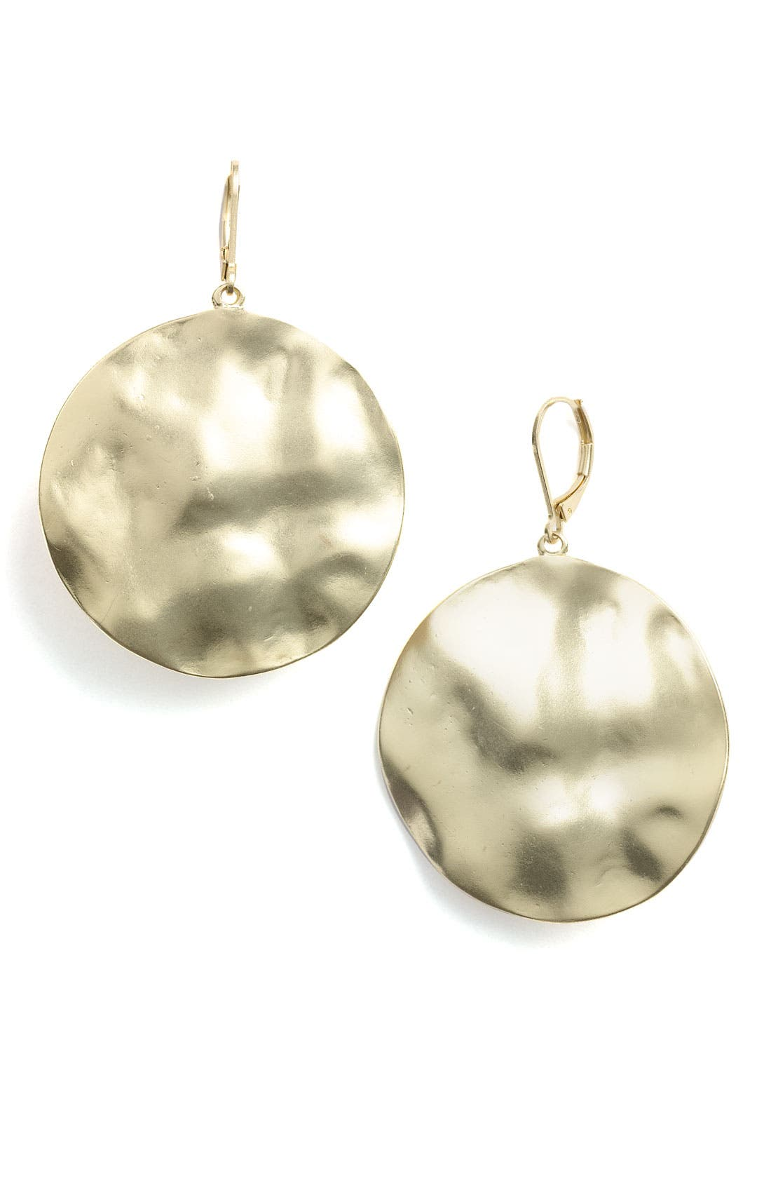 Alternate Image 1 Selected - Nordstrom 'Gold Water' Large Disc Drop Earrings