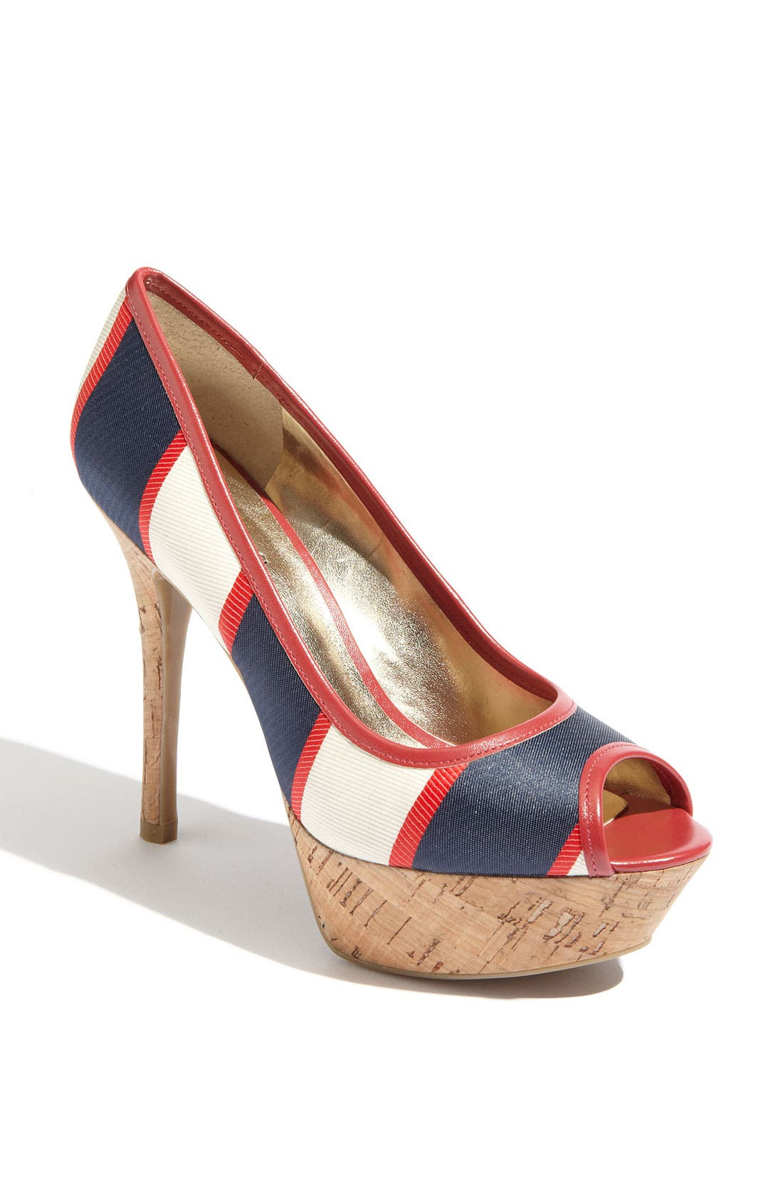 'Nanci' Pump,                             Main thumbnail 1, color,                             Multi Red Stripe