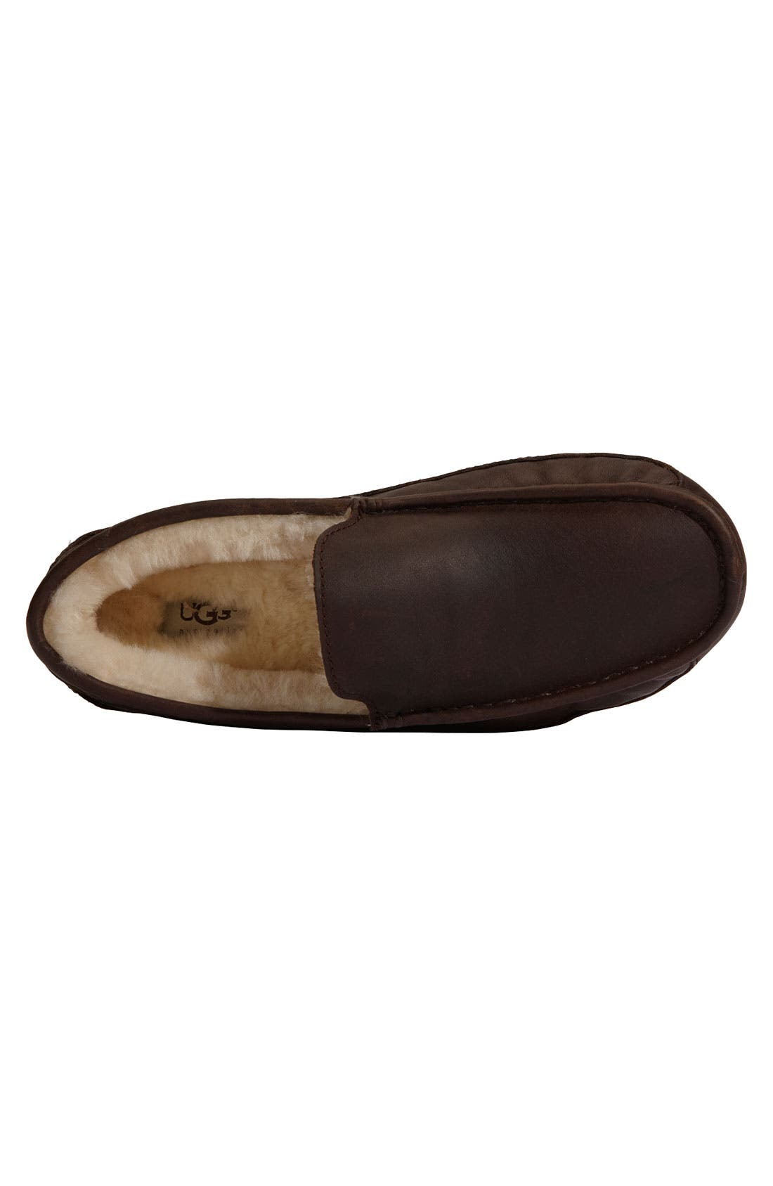 Alternate Image 3  - UGG® Ascot Leather Slipper (Men)
