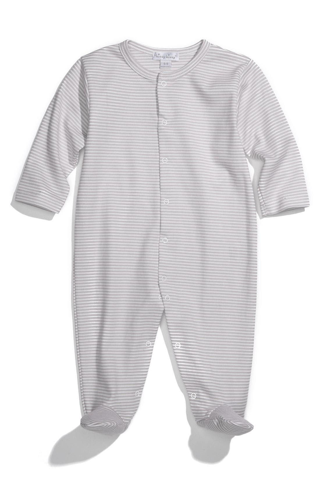 Alternate Image 1 Selected - Kissy Kissy Pima Cotton Footie (Infant)