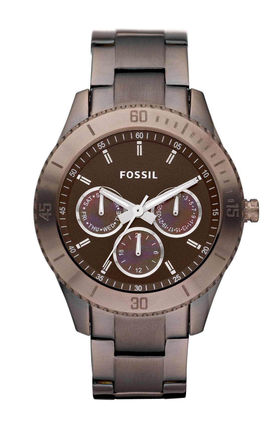 Alternate Image 1 Selected - Fossil 'Stella' Multifunction Bracelet Watch