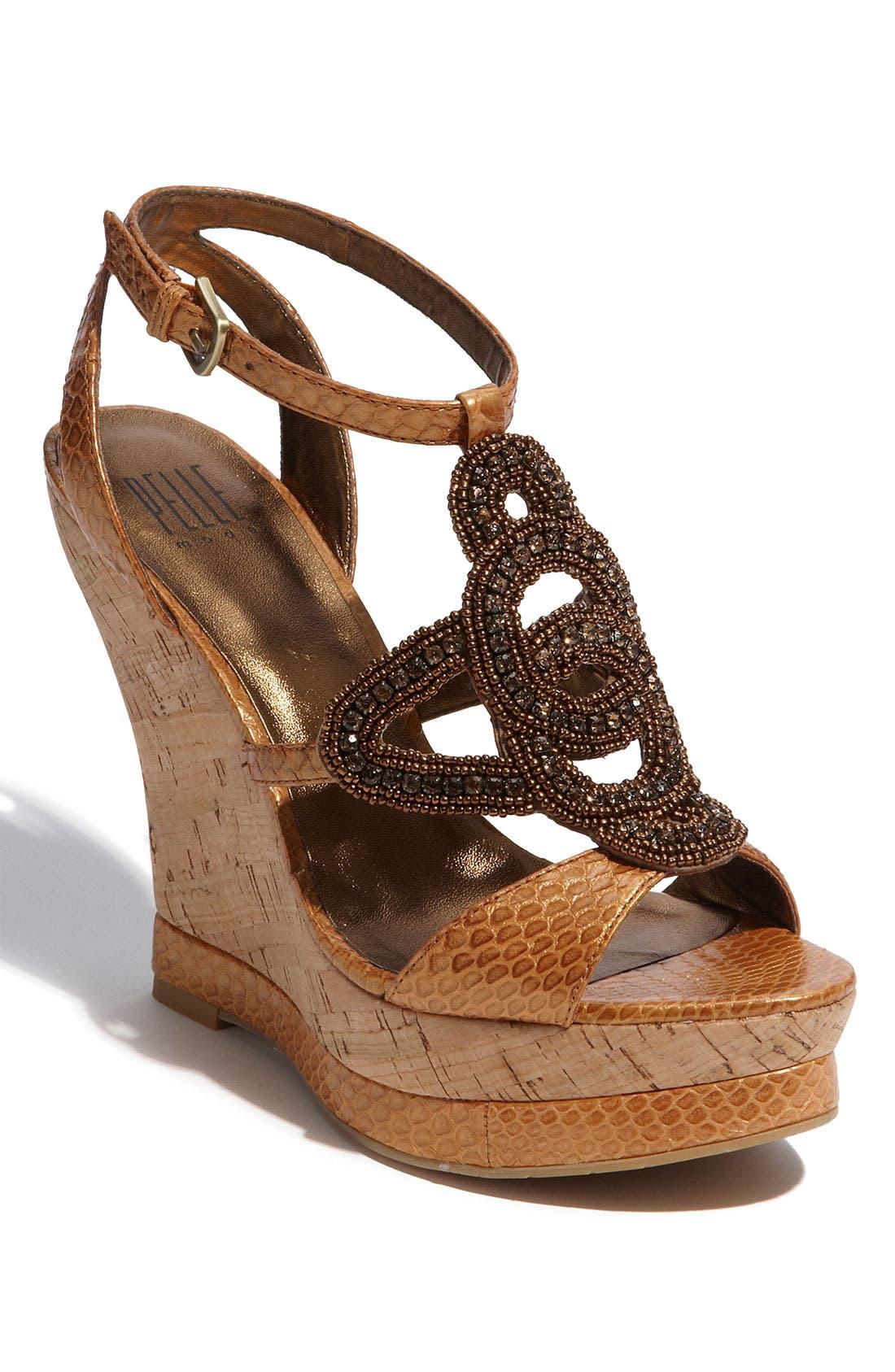 Alternate Image 1 Selected - Pelle Moda 'Niland' Wedge Sandal