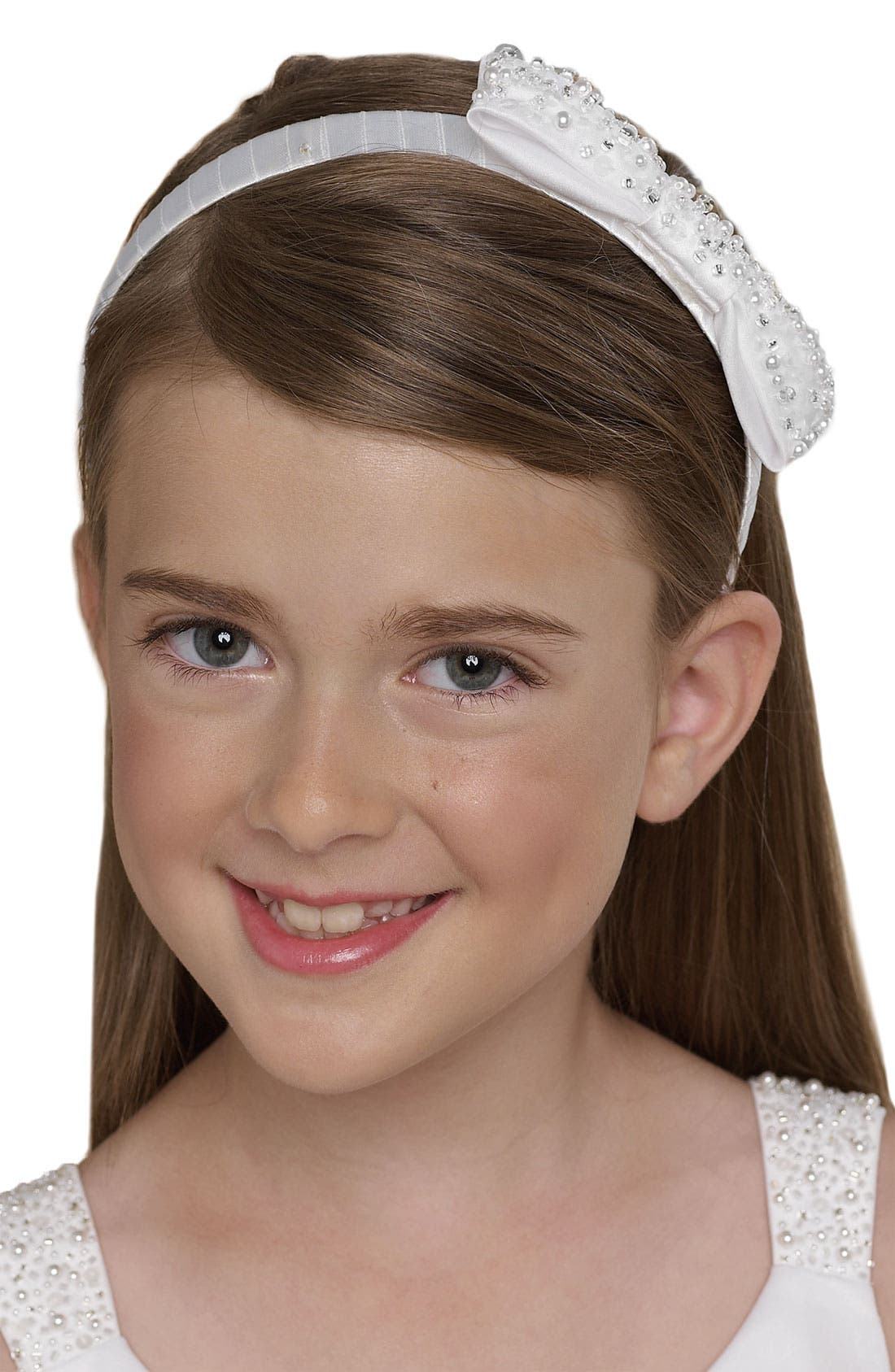 Alternate Image 1 Selected - Us Angels Beaded Headband (Little Girls & Big Girls)