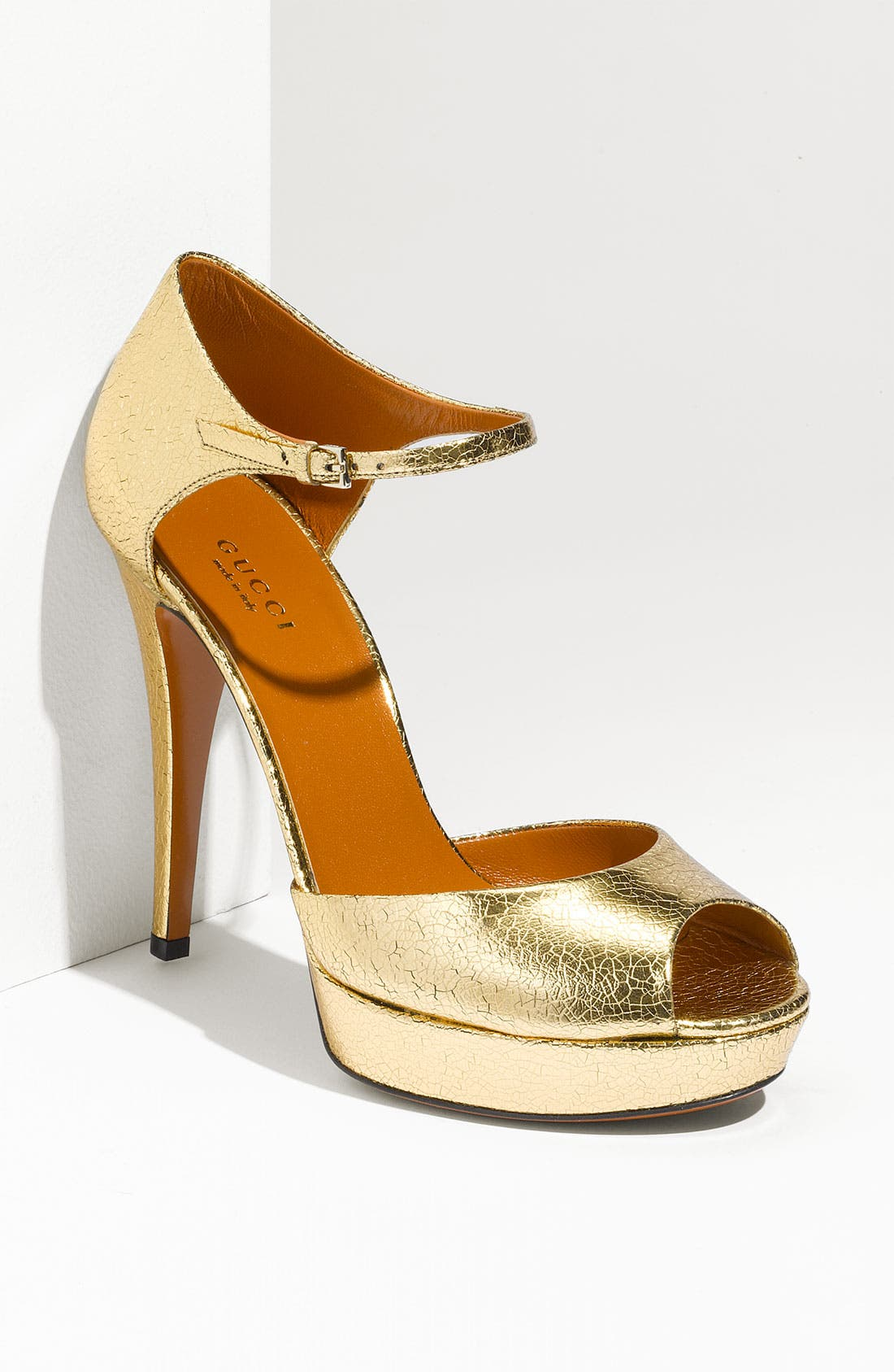 Main Image - Gucci Ankle Strap Peep Toe Pump