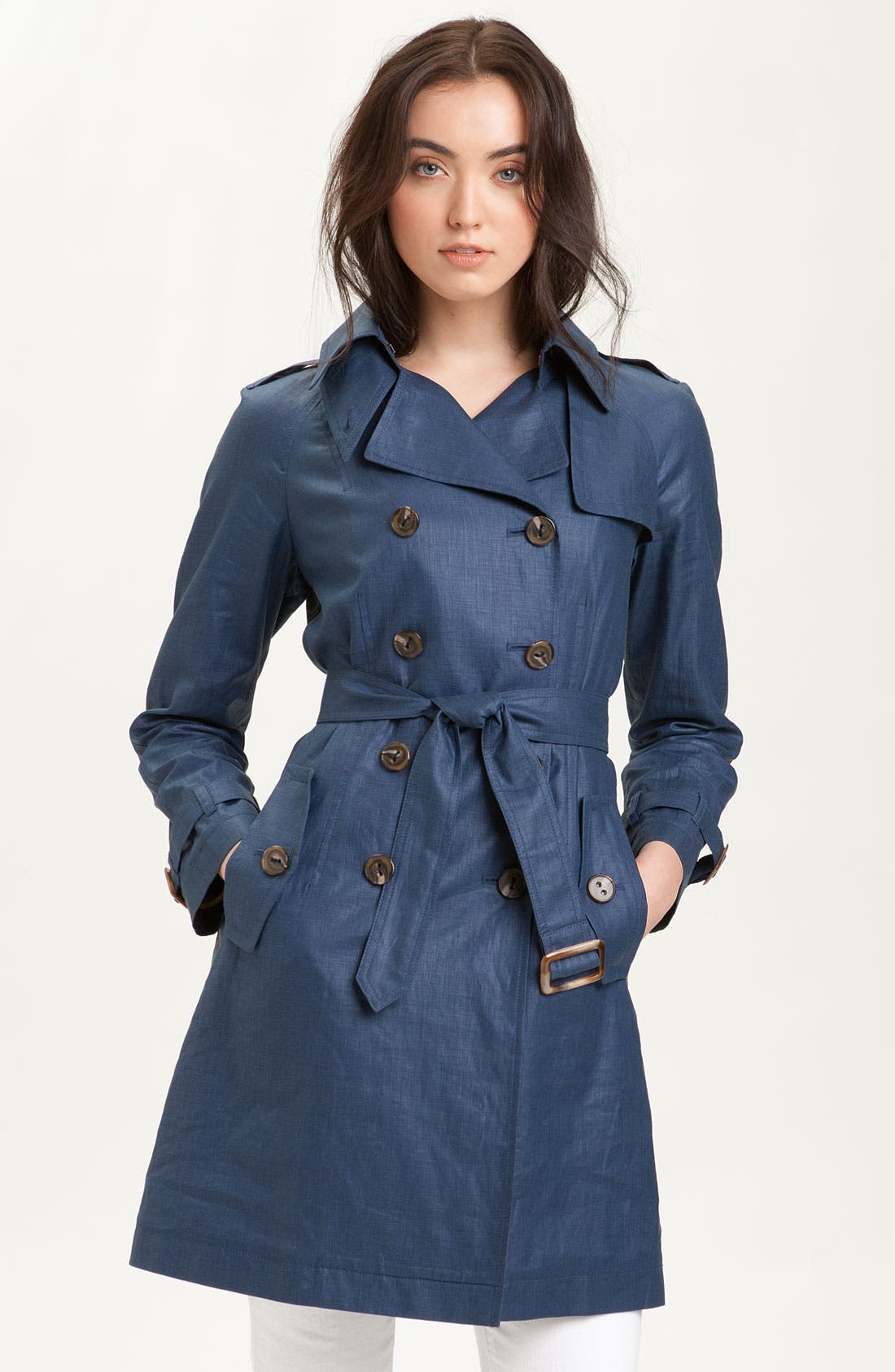 Main Image - Trina Turk Double Breasted Trench Coat