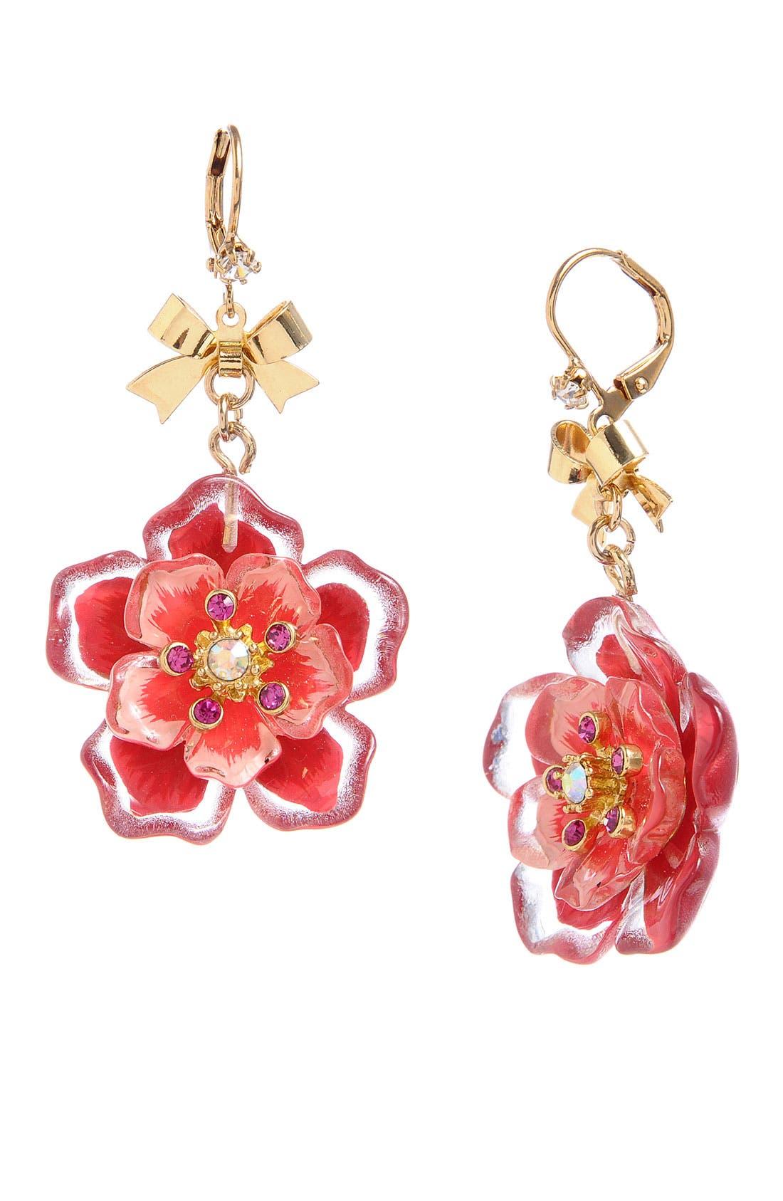 Main Image - Betsey Johnson 'Hawaiian Luau' Floral Drop Earrings