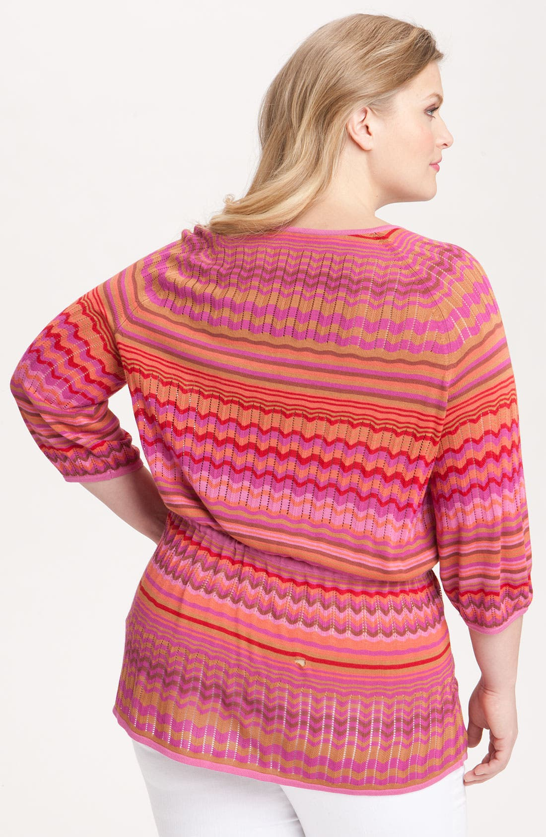 Alternate Image 2  - Sejour Stripe Tunic Sweater (Plus)