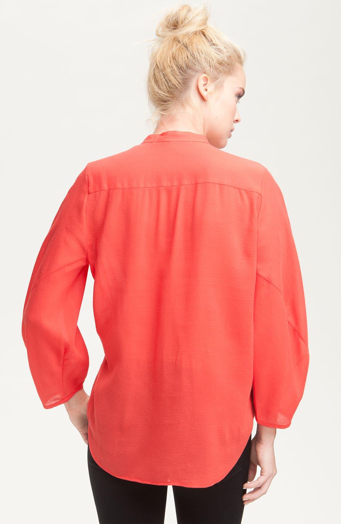 Alternate Image 2  - Diane von Furstenberg 'Hatti' Oversized Mandarin Collar Tuxedo Shirt