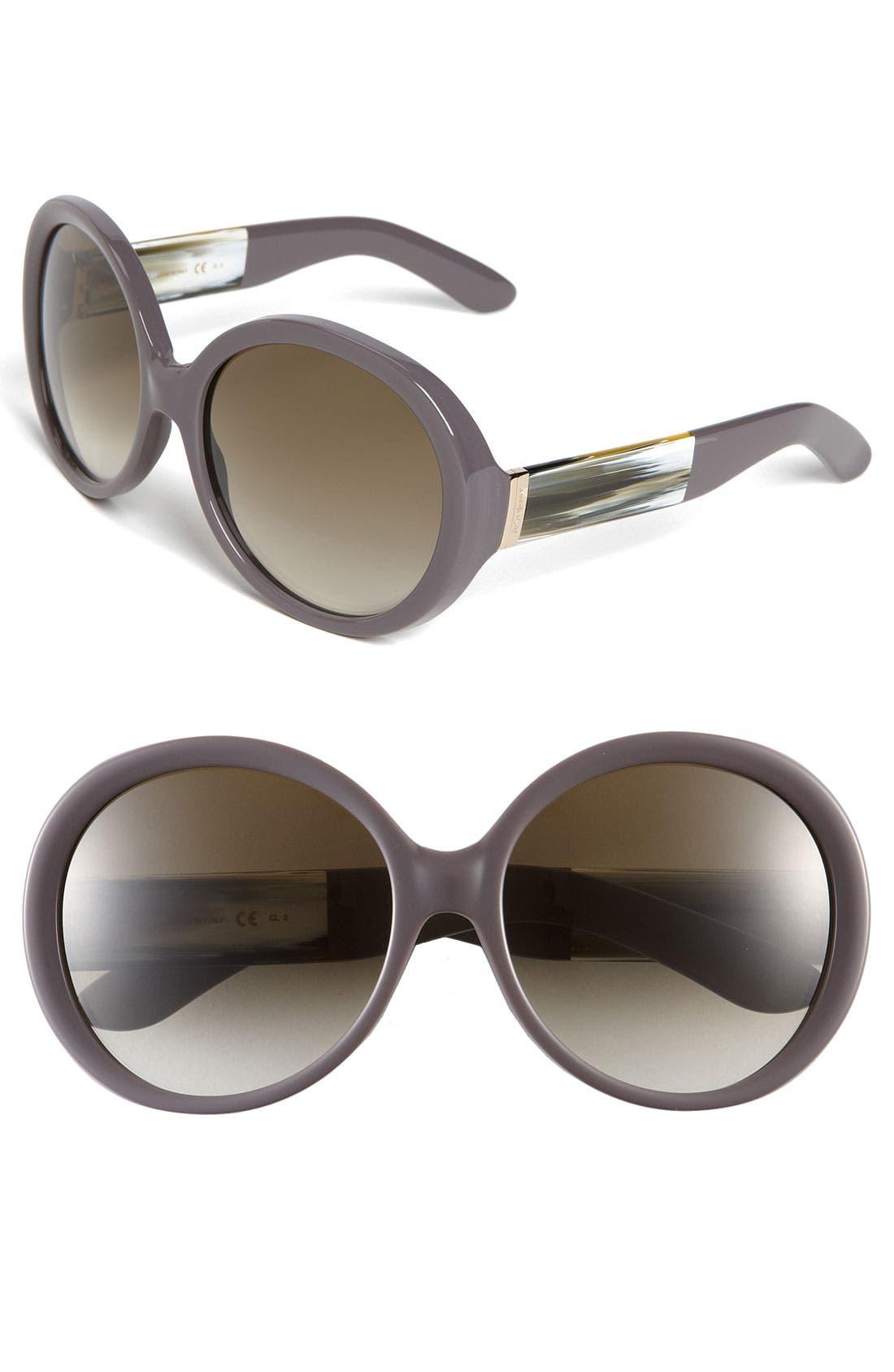 Main Image - Yves Saint Laurent Oversized Round Sunglasses