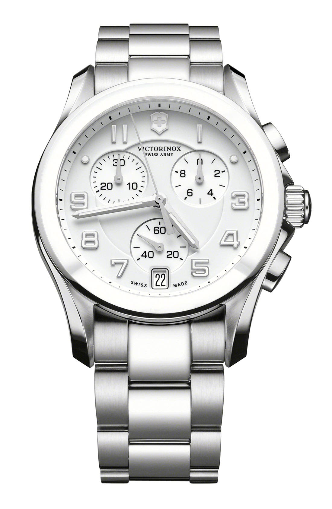 Main Image - Victorinox Swiss Army® 'Chrono Classic' Watch with Ceramic Bezel