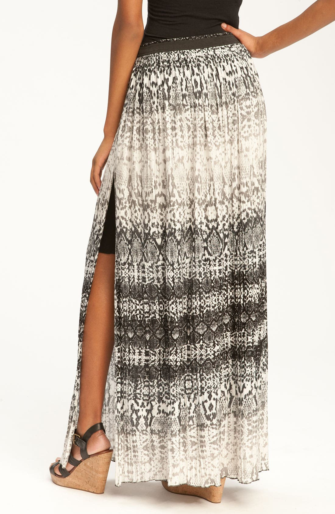 Alternate Image 2  - Kenneth Cole New York Pleated Python Print Max Skirt