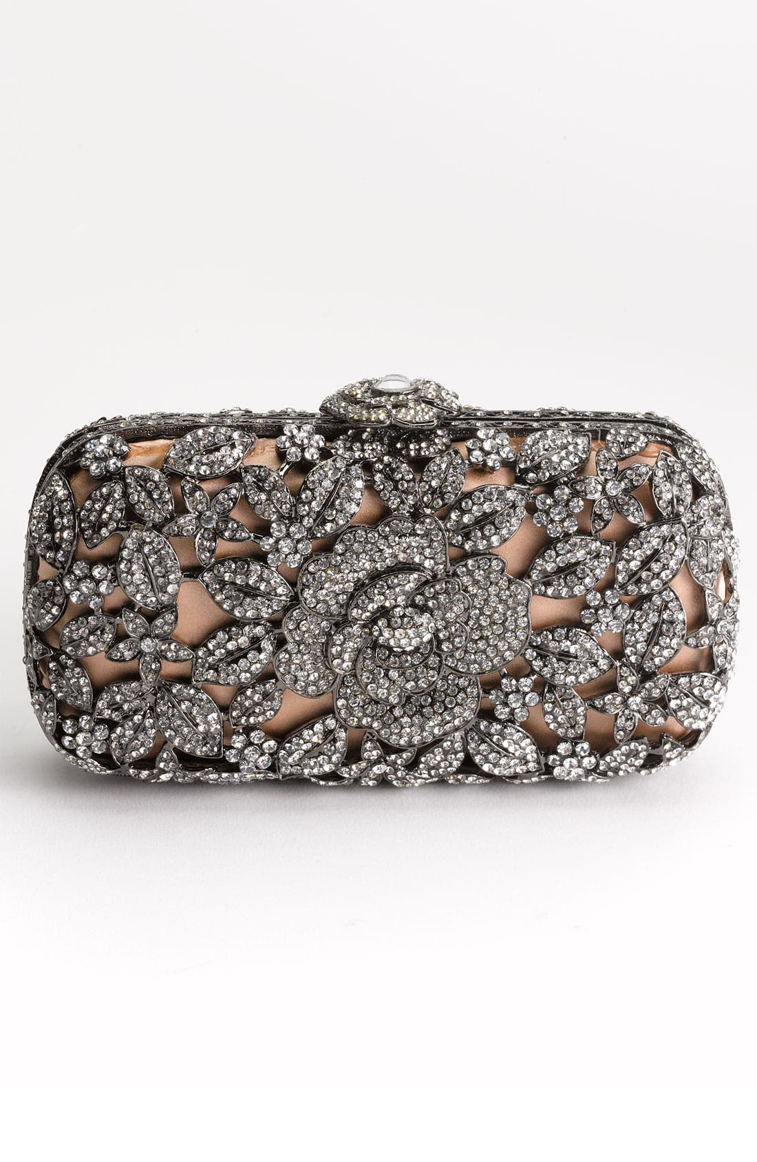 Alternate Image 3  - Natasha Couture Crystal Caged Floral Clutch