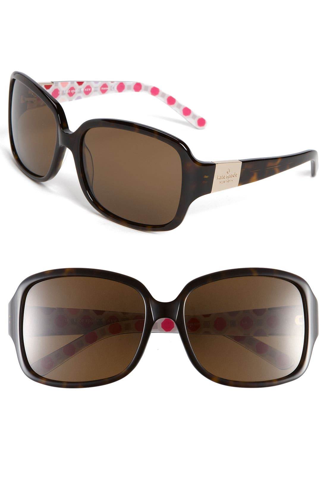 Alternate Image 1 Selected - kate spade new york 'lulu 2' 55mm polarized sunglasses