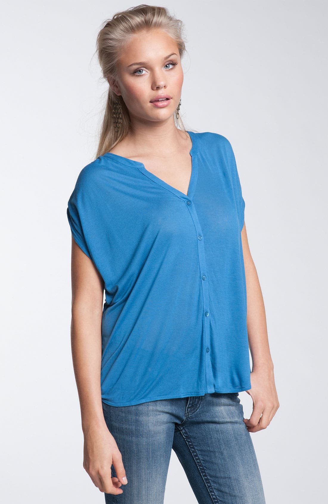 Alternate Image 1 Selected - Rubbish® Tie Shoulder Top (Juniors)