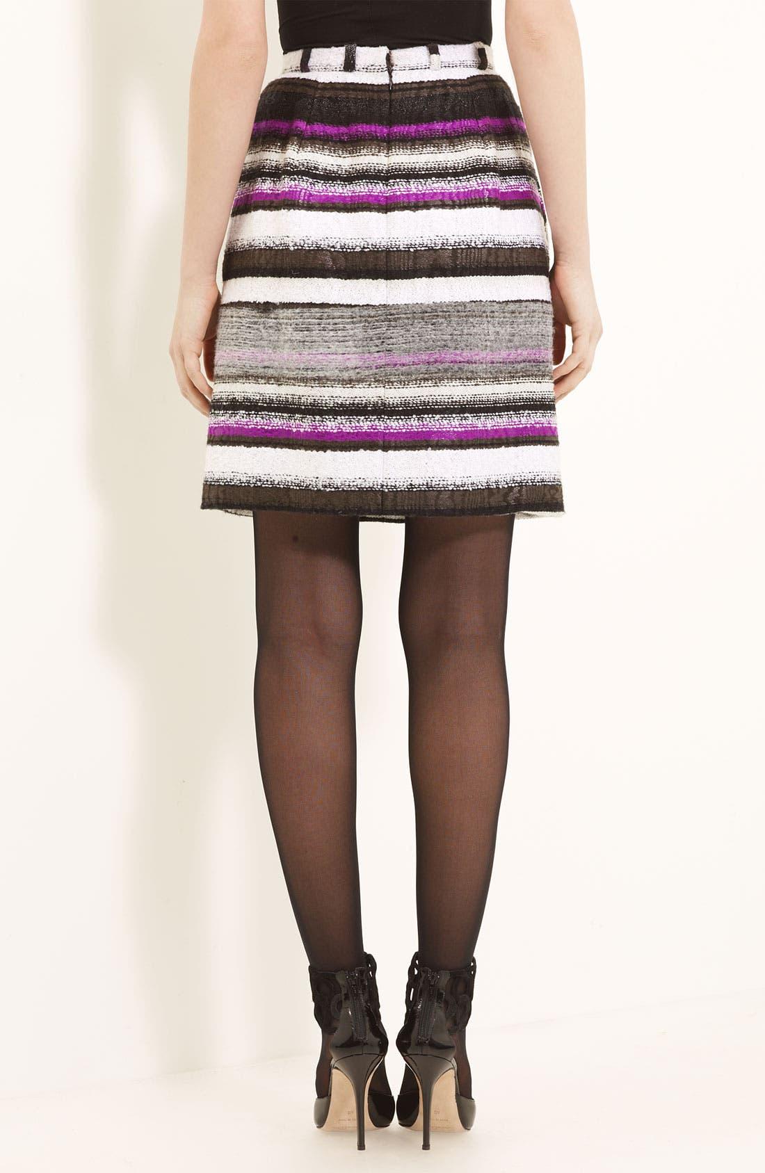 Alternate Image 2  - Oscar de la Renta Colorblock Tweed Skirt