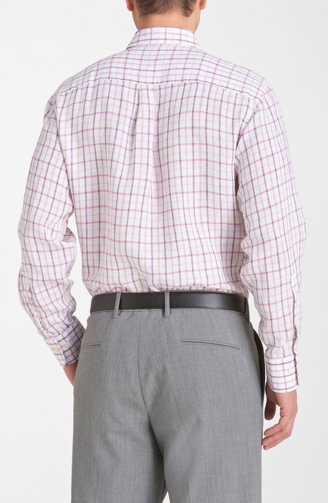 Alternate Image 2  - Peter Millar Regular Fit Linen Sport Shirt