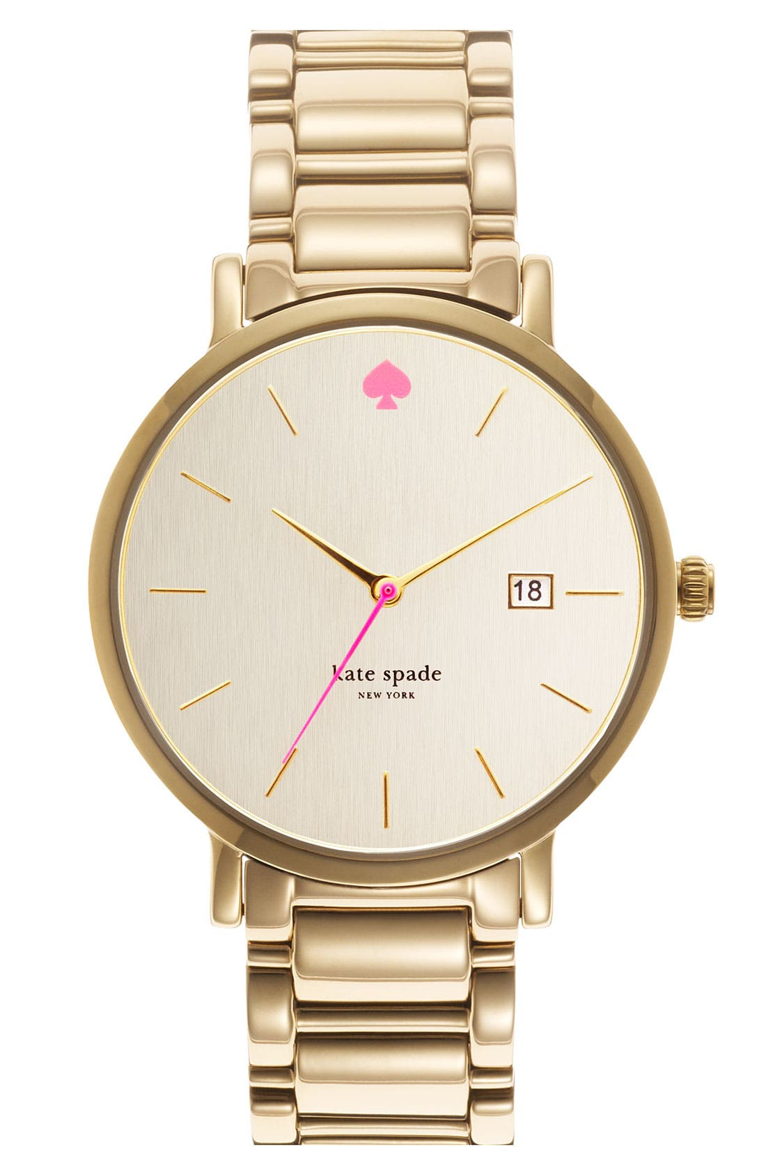 Alternate Image 1 Selected - kate spade new york 'gramercy grand' bracelet watch, 38mm