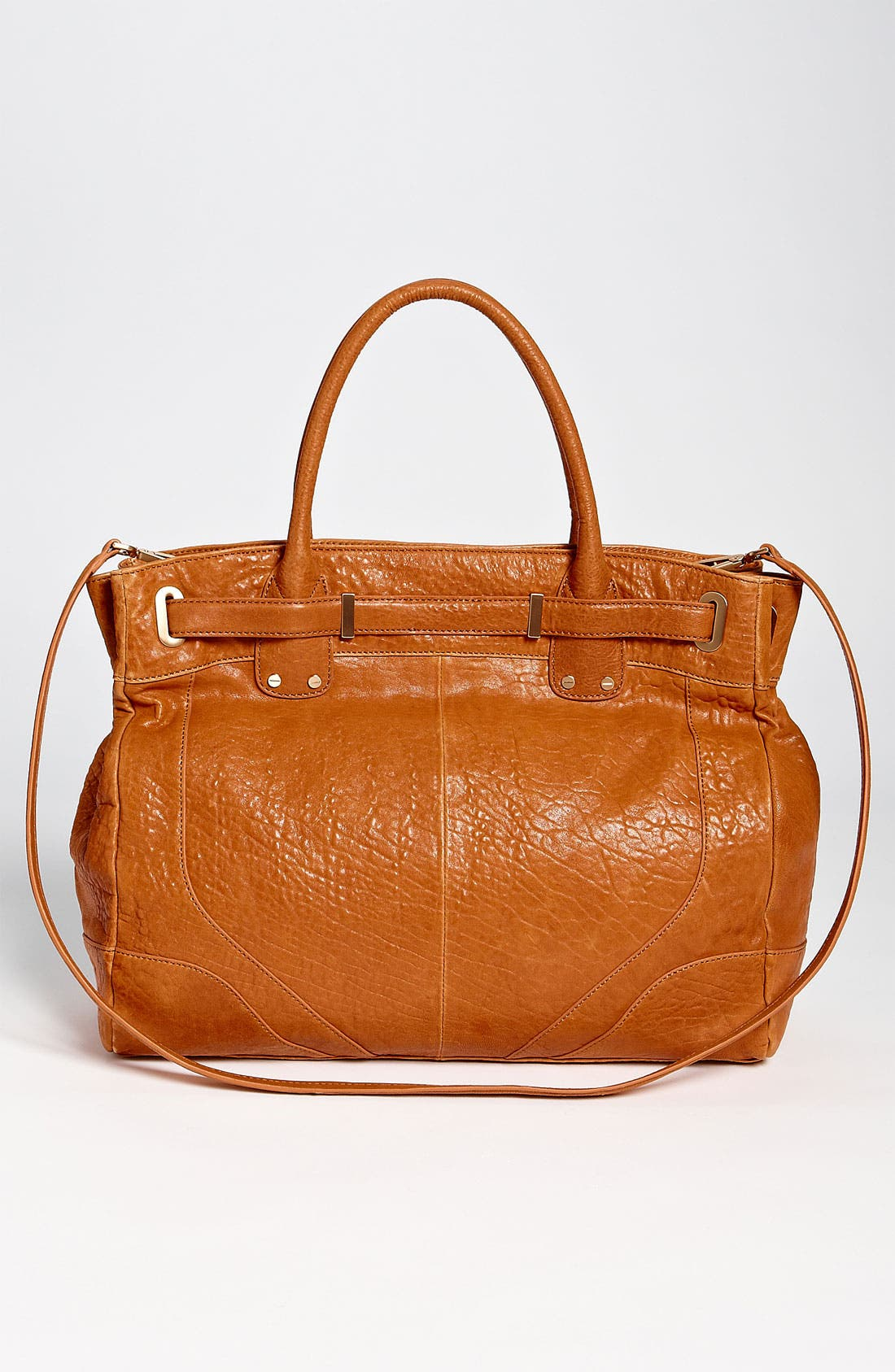 Belted Satchel,                             Alternate thumbnail 4, color,                             Camel