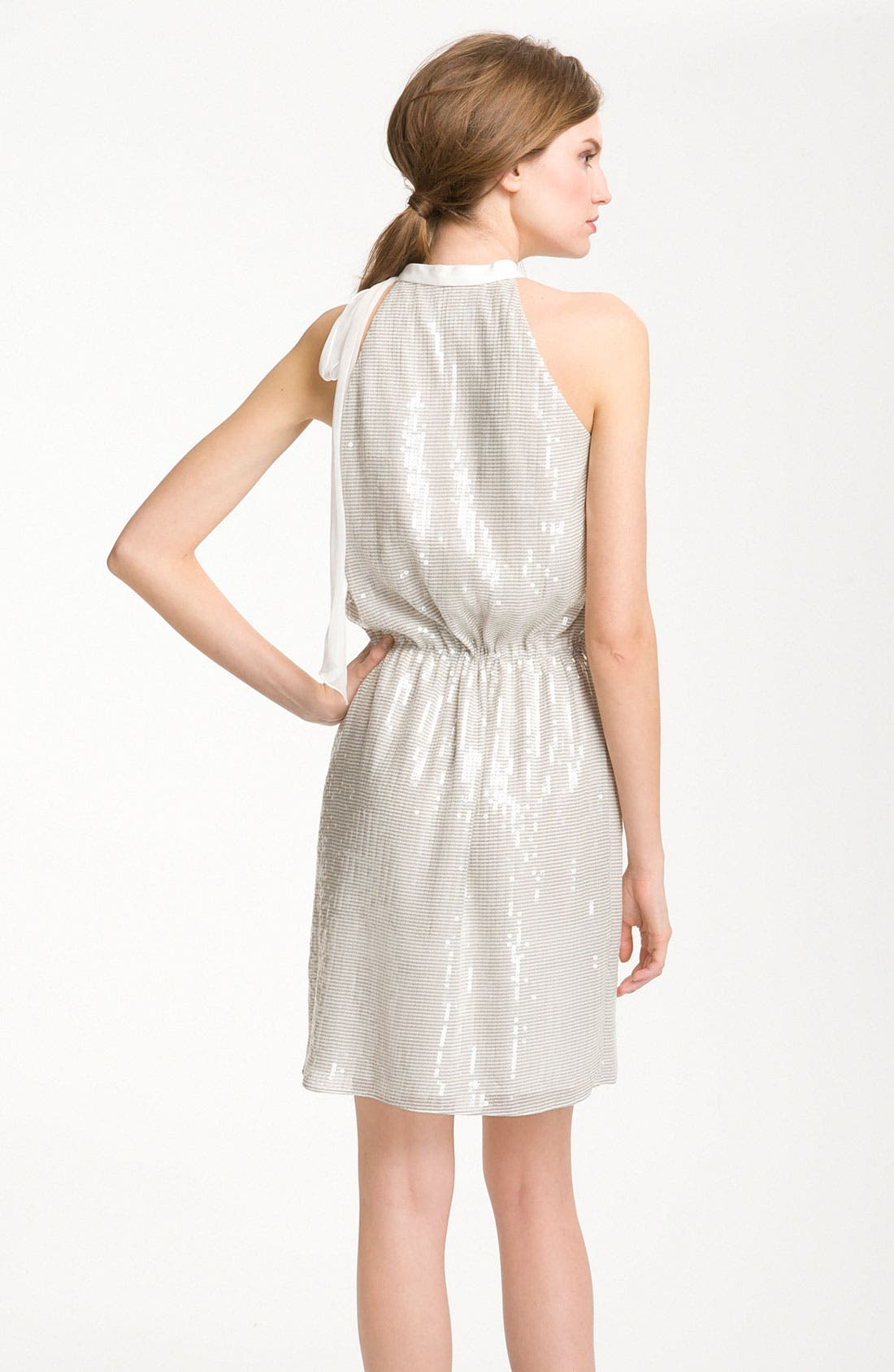 Alternate Image 2  - Kathy Hilton Sequin Blouson Halter Dress