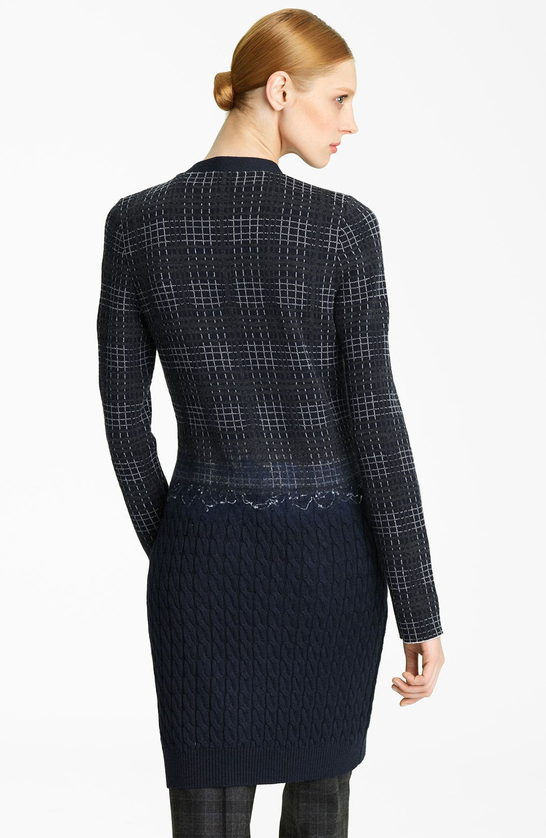 Alternate Image 2  - Oscar de la Renta Felt & Cable Knit Cardigan