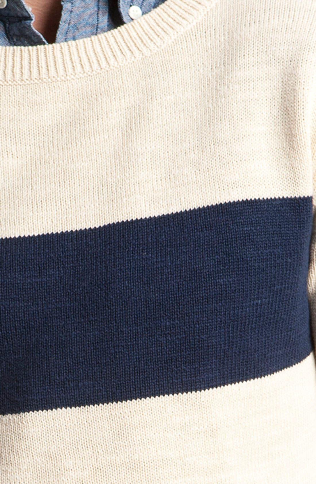 Alternate Image 3  - Gant Rugger Split Crewneck Sweater