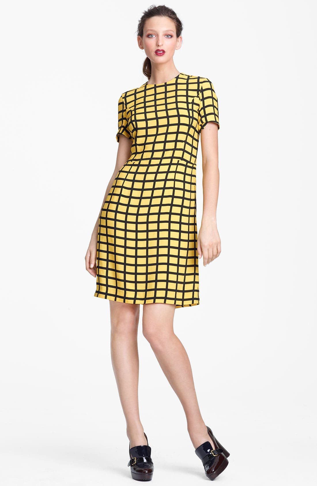 Main Image - Marni Edition Grid Print Woven Dress