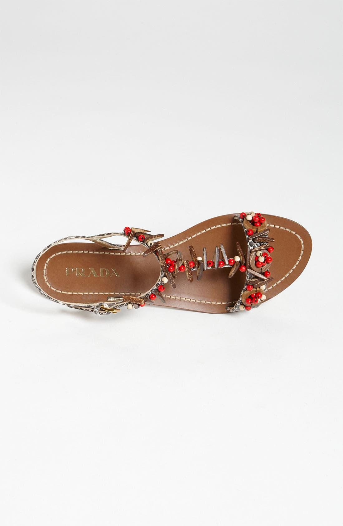 Alternate Image 3  - Prada T-Strap Flat Sandal