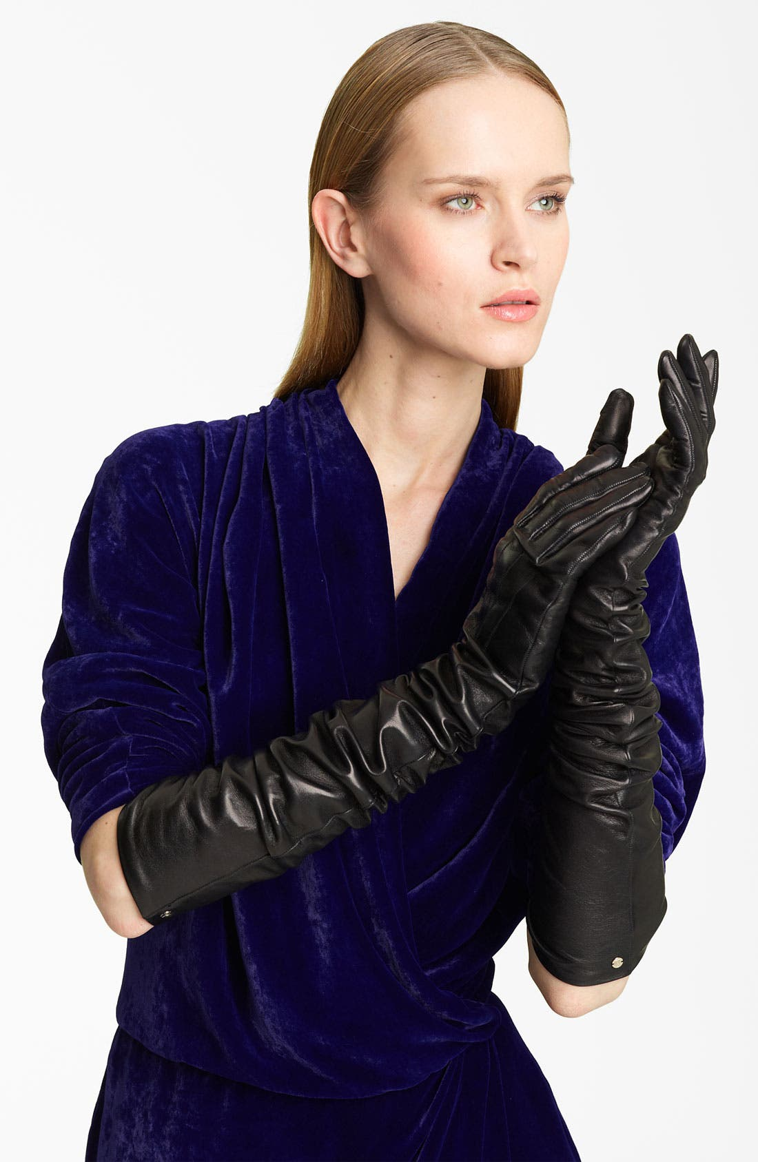 Main Image - Lanvin Long Lambskin Leather Gloves