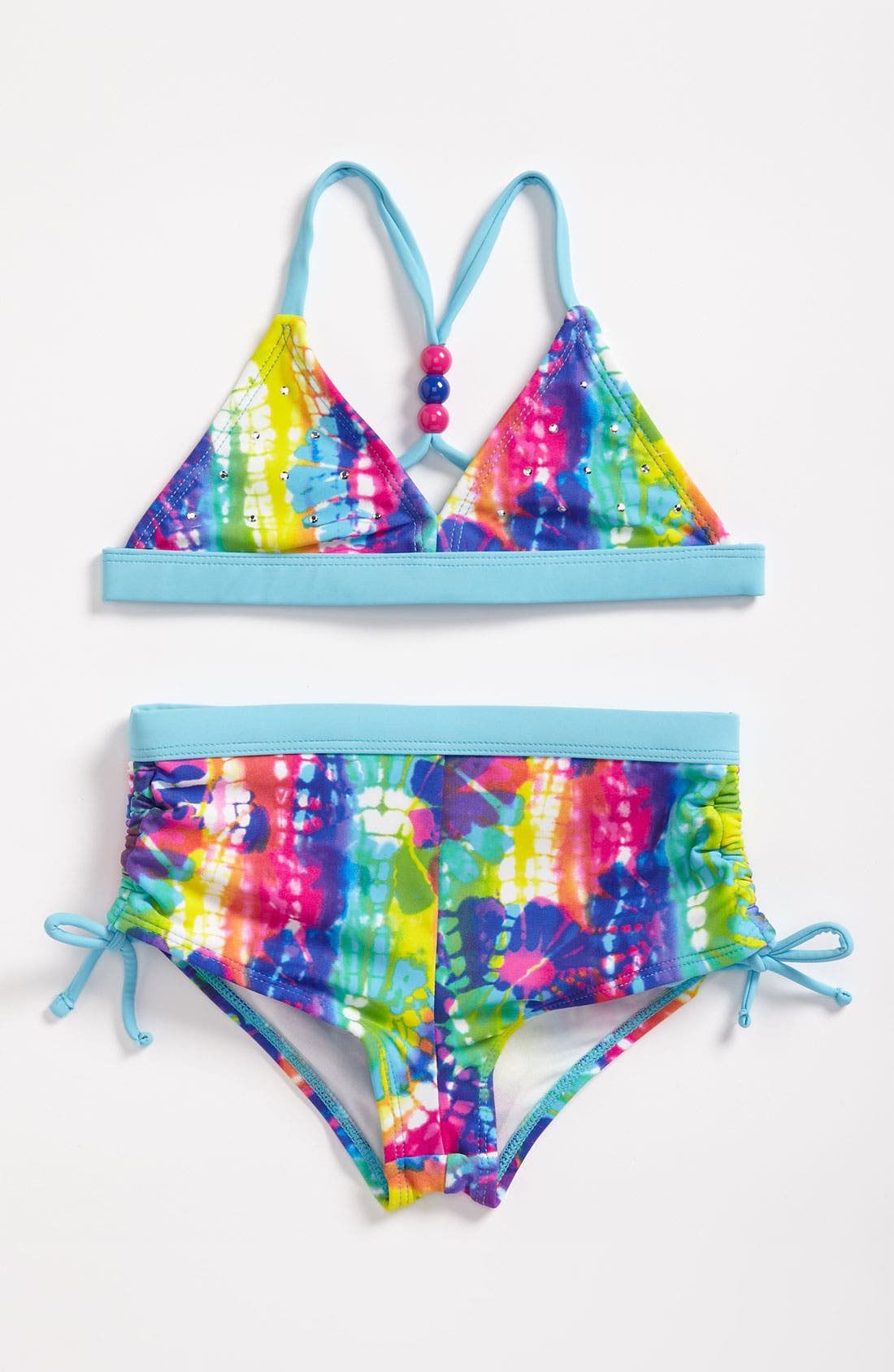 Main Image - Breaking Waves Two Piece Swimsuit (Little Girls)