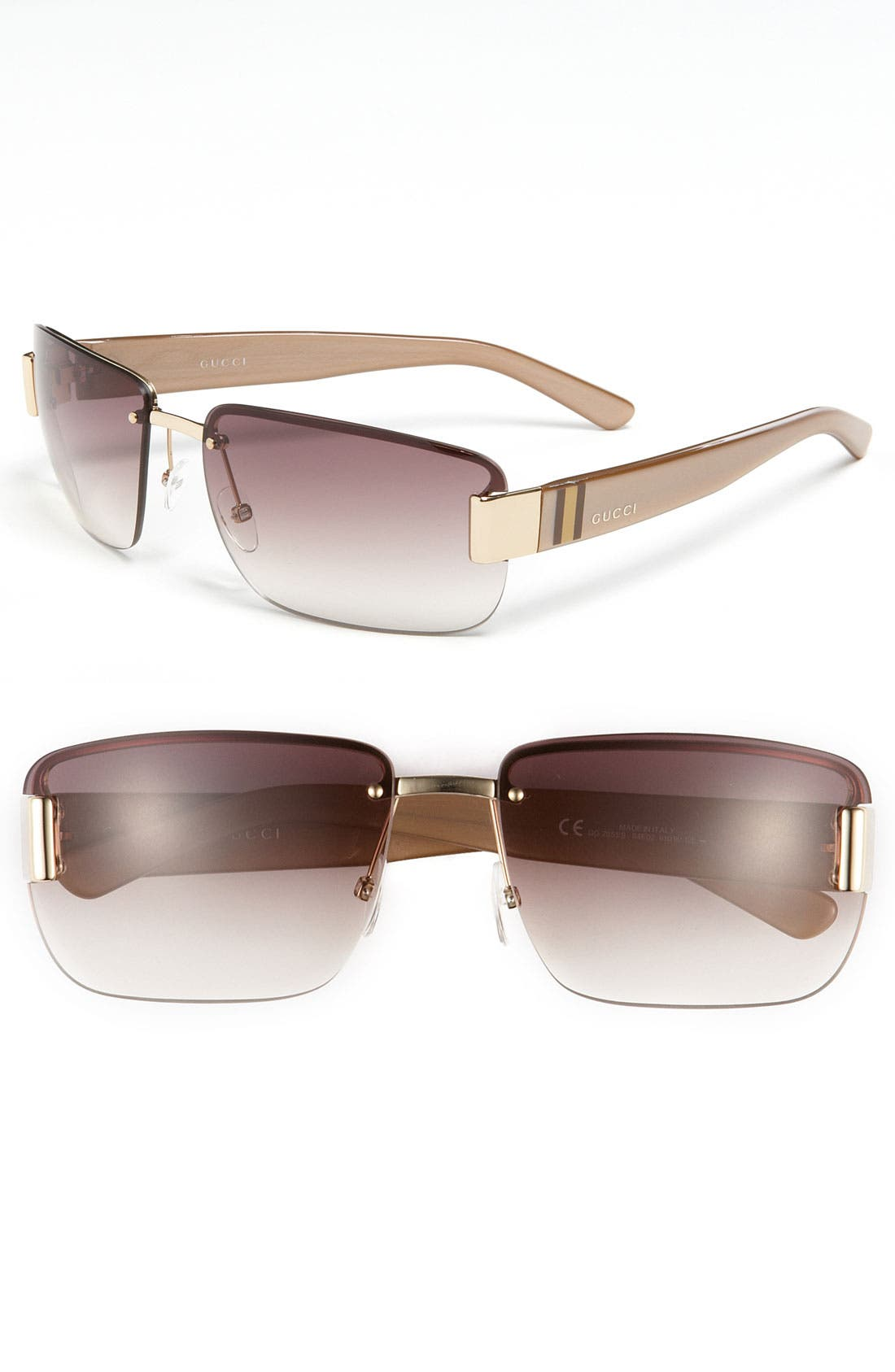 Alternate Image 1 Selected - Gucci 61mm Rimless Sunglasses