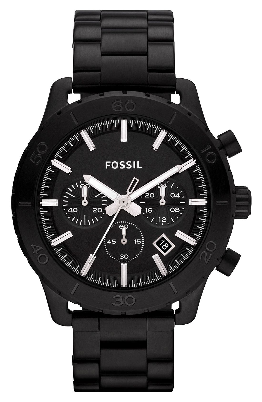 Alternate Image 1 Selected - Fossil 'Keaton' Chronograph Watch