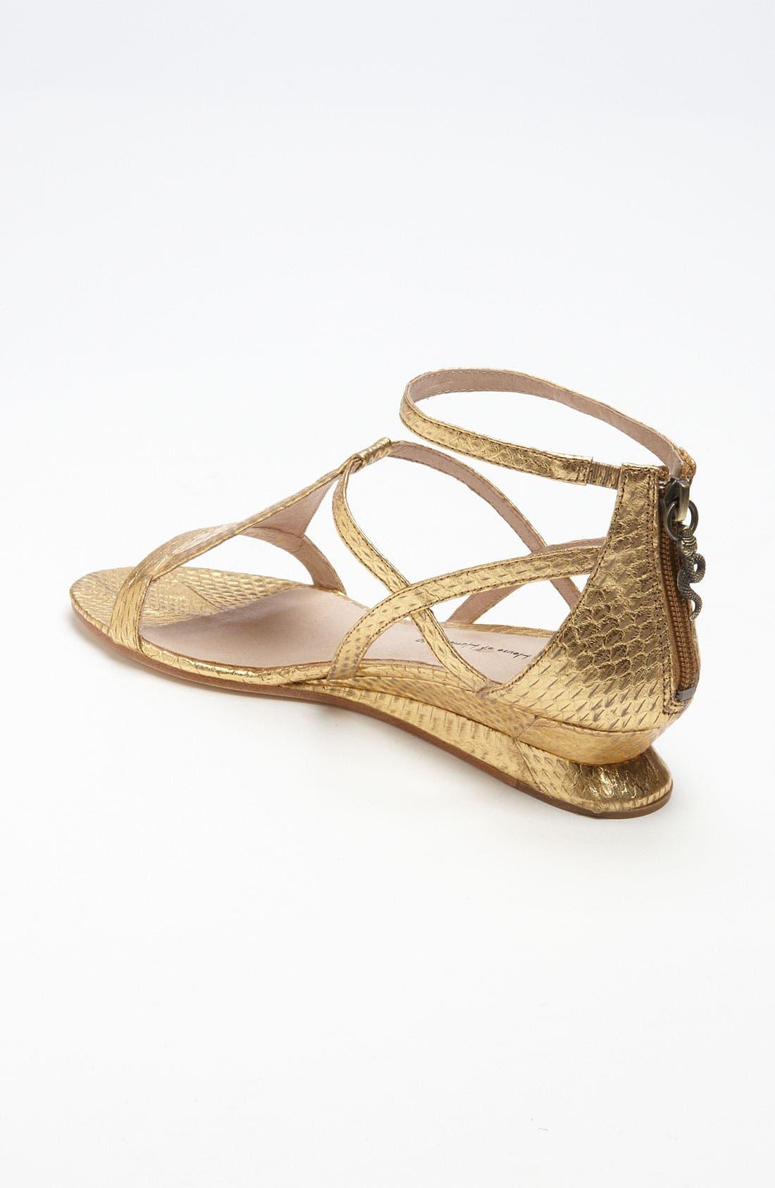 'Casmine' Sandal,                             Alternate thumbnail 2, color,                             Antique Gold
